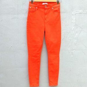 7 for all minkind orange skinny jeans
